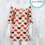 Dress3250 Big Size Dress ชุดเดรสแฟชั่นไซส์ใหญ่ อกลูกไม้ถักสีขาว แขนสามส่วนระบาย ผ้าหนังไก่เนื้อนุ่มยืดได้เยอะ ลายหัวใจพื้นสีครีม รอบอก 40 นิ้ว thumbnail 1