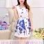 **สินค้าหมด Dress4005 ชุดเดรสทรงสวยผ้าลายเชิงพิมพ์ลายผีเสื้อดอกไม้สีน้ำเงินพื้นขาว ซิปข้างใส่ง่าย มีซับในอย่างดีทั้งชุด ผ้าชีฟองอัดลายเนื้อดีหนาสวยเกรดพรีเมียมมีน้ำหนักทิ้งตัวสวย ผ้าสวยเกินราคา งานดีเหมือนราคาหลักพัน แนะนำเลยจ้า (ไม่มีเข็มขัด) thumbnail 2