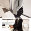 เสื้อโค้ทกันหนาว สไตล์เกาหลี ทรงสวย Classic ผ้าวูลเนื้อดี บุซับในกันลม ใส่แบบตั้งปกขึ้นก็เก๋ สีดำ พร้อมส่ง thumbnail 3