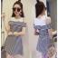**สินค้าหมด Dress3677 ชุดเดรสน่ารักลายริ้วโทนสีขาวดำ ผ้าเนื้อนุ่มใส่สบาย thumbnail 1