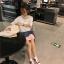เสื้อแฟชั่น สีขาว แต่งคอ สไตล์เกาหลีใส่ออกมาแล้วแนวมากจ้า พร้อมส่งน้า thumbnail 9