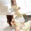พร้อมส่ง - Size M Lady Daisy Ribbon Off-shoulder Mini dress : มินิเดรสเปิดไหล่โบว์ลายดอกเดซี่โทนสีเหลือง thumbnail 7