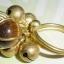 (ขายแล้วค่ะ) C013 แหวนทองเหลือง ลายก้นหอย ประดับหินไทเกอร์ thumbnail 2