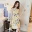 **สินค้าหมด Dress4018 ชุดเดรสทรงปล่อยลายดอกไม้สีพื้นเหลือง ซิปหลังใส่ง่าย มีซับในอย่างดีทั้งชุด ผ้าชีฟองเนื้อดีเกรดพรีเมียมมีน้ำหนักทิ้งตัวสวย งานดีผ้าสวยเกินราคา สวยจบในชุดเดียว ใส่ได้บ่อยหลายโอกาส thumbnail 1
