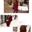 เสื้อโค้ทกันหนาว สไตล์เกาหลี ทรงสวย Classic ผ้าสักกะหลาด บุซับในกันลม ใส่แบบตั้งปกขึ้นก็เก๋ สีไวน์แดง พร้อมส่ง thumbnail 8