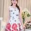 **สินค้าหมด Dress4016 ชุดเดรสทรงสวยผ้าลายเชิงพิมพ์ลายผีเสื้อดอกไม้สีแดงพื้นขาว ซิปข้างใส่ง่าย มีซับในอย่างดีทั้งชุด ผ้าชีฟองอัดลายเนื้อดีหนาสวยเกรดพรีเมียมมีน้ำหนักทิ้งตัวสวย ผ้าสวยเกินราคา งานดีเหมือนราคาหลักพัน แนะนำเลยจ้า thumbnail 6