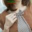 NEW เดรสผ้าCottonทอลายชิโนริ แต่งกั้กผ้าฮานาโก๊ะ ซิปซ้อนด้านหลัง (ซับในไฮเกรดทั้งชุด) thumbnail 3