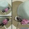 หมวกปีกกว้าง ทรงระฆังประดับโบว์ดอกไม้