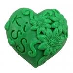 แม่พิมพ์สบู่ รูปหัวใจ love 80g 7.2*6*2.5cm