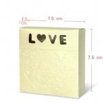 กล่องกระดาษ เคลือบเงาชิมเมอร์ ปั๊มลายนูนสีทองช่อง LOVE 20 ชิ้น 7.5*2 CM