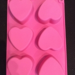 แม่พิมพ์รูปหัวใจ 6 ช่อง 100-112g
