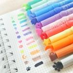 (เซ็ต12แท่ง) Cute Stamp Highlight Pen ปากกาไฮไลท์ หัวปั๊ม