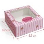 กล่องสบู่ โชว์หน้าสบู่ ลายดอกไม้ 60 ชิ้น 8.2*8.2*3 cm