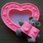 แม่พิมพ์ซิลิโคน รูปหัวใจหมี 60g