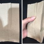 ซองกระดาษคาร์ฟ สีน้ำตาล ขยายข้าง 100 ใบ 8*14 CM