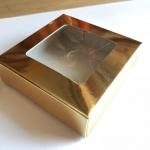 กล่องกระดาษสีทองใส่สบู่ 8*8*2.5 cm 100ใบ