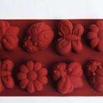 แม่พิมพ์ รูปผึ้ง ผีเสื้อ เต๋าทอง ดอกไม้ 8 ช่อง