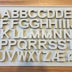 แม่พิมพ์ตัวอักษร A-Z ประมาณตัวอักษร 2*2.5 cm