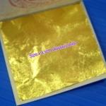 ทองคำเปลวแท้ 100% ตราช้าง 4*4.5 cm เกรดสปา 10แผ่น