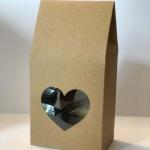 ถุงกระดาษคราฟโชว์หน้ารูปหัวใจ 5*8*9.5 cm. 50 ชิ้น