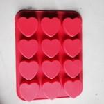 แม่พิมพ์ซิลิโคน หัวใจ 12 ช่อง 35g
