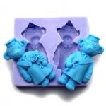 แม่พิมพ์ซิลิโคน รูปหมี 2 ช่อง
