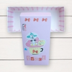 กล่องกระดาษแบบฝาปิดสีชมพูลายการ์ตูนแมว Sweet Flying Dream 17.5x8x4.5 cm. 20 ชิ้น