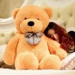 ตุ๊กตาหมีน้ำตาลอ่อนลืมตา1.4เมตร