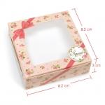 กล่องสบู่ โชว์หน้าสบู่ ลายดอกไม้ สีชมพู 60 ชิ้น