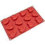 แม่พิมพ์ซิลิโคลน รูปหัวใจ 35-40g. 12 ช่อง