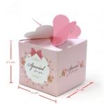กล่องสบู่ ลายดอกไม้ลายจุดสีชมพู 60 ชิ้น 5.5cm