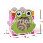 กล่องกระดาษ รูปกบ 7.5*7.5*6 cm 60 ชิ้น