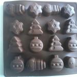 แม่พิมพ์ซิลิโคน รูปขวดน้ำหอม ต้นคริสต์มาส 16 ช่อง