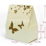 กล่องกระดาษผีเสื้อ สีครีม 7.5*4.5*3.5 (9cm) 20 ชิ้น