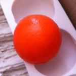 แม่พิมพ์ รูปส้ม 5 หลุม 100g