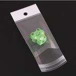 ถุงพลาสติกแถบขาวมีรูแขวนแบบมีเทปกาว 8x14 cm. 100ชิ้น