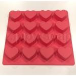 แม่พิมพ์ซิลิโคน หัวใจ 16 ช่อง 10g 3*1.8cm
