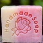 แสตมป์สบู่ รูปดอกกุหลาบ handmade soap