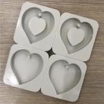 แม่พิมพ์ซิลิโคน เจาะรู รูปหัวใจ 4 ช่อง