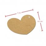 ป้ายแขวนหัวใจสีน้ำตาล 5x4.5 cm. 100 ชิ้น