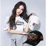หมวกแก๊บ,หมวกเบสบอล NY ผ้าใบปักลาย สีดำ,ขาว ปรับได้ 56-60 cm.