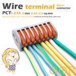 ขั้วต่อสายไฟ เทอมินอลต่อสายไฟ ขั้วต่อสายคอนโทรล ลูกเต๋าเชื่อมต่อสายไฟ 8 ช่อง OOP 0.08 -2.5 sq.mm PCT-218 1 ชิ้น Wire Terminal Block Connector
