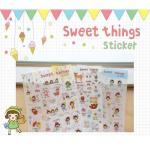 (เซ็ต 6 แผ่น) Sweet Things Sticker