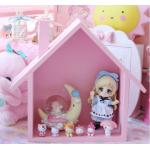 ช่องใส่ของของ handmade รูปบ้าน สีชมพู