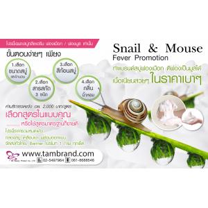 Promotion : โปรโมชั่นทำแบรนด์สบู่ฟองครีม ฟองเมือก ฟองมูส Snail and Mouse Fever Promotion