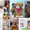 ตุ๊กตาหมีอ้วนXL ขนาด140cm สีขาว,หมีอ้วนสีน้ำตาลเข้ม,หมีอ้วนสีน้ำตาลอ่อน
