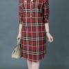 ชุดเดรสเชิ้ต ผ้าคอตต้อนสวยหรูคลาสสิค สไตล์เบอร์เบอรี่
