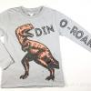 เสื้อยืดเด็กแขนยาว สีเทาลายไดโนเสาร์ H&M ขนาด 6-8
