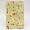 ซองซิปลายดอกไม้สีส้มแดงพื้นหลังสีครีม ขนาด 10x15 cm. 100 ชิ้น