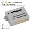 แบตเตอรี่กล้อง Canon LP-E5 Kingma 1150mAh 7.4V 8.5Wh Li-ion battery 1 ก้อน